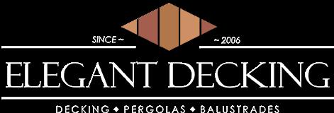 elegant decking white logo